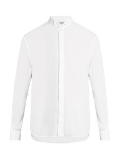Yves Saint Laurent Saint Laurent Wing-collar cotton-poplin shirt