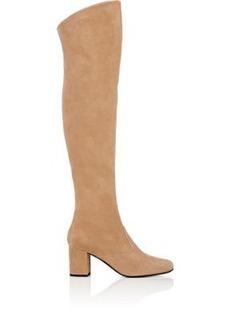 Yves Saint Laurent Saint Laurent Women's BB Suede Over-The-Knee Boots