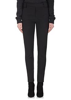 Saint Laurent Women's Belted Virgin Wool Straight-Leg Trousers