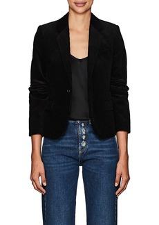 Saint Laurent Women's Corduroy One-Button Slim Blazer