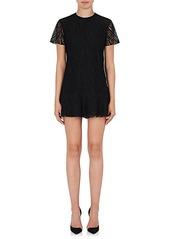 Saint Laurent Women's Cotton-Blend Lace Shift Dress