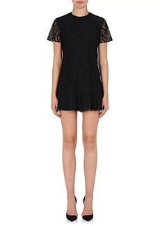 Saint Laurent Women's Cotton-Blend Lace Shift Dress