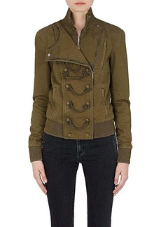Yves Saint Laurent Saint Laurent Women's Cotton-Blend Military Bomber Jacket
