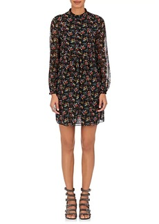 Saint Laurent Women's Floral Silk Shirtdress