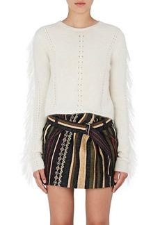 Saint Laurent Women's Fringed Mohair-Blend Sweater