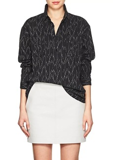 Yves Saint Laurent Saint Laurent Women's Ikat-Inspired Cotton-Linen Blouse