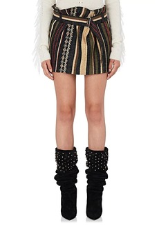 Yves Saint Laurent Saint Laurent Women's Ikat Striped Silk-Blend Belted Miniskirt