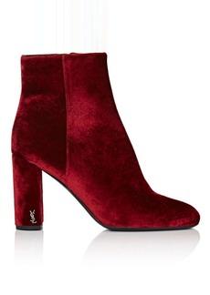 Yves Saint Laurent Saint Laurent Women's Loulou Velvet Ankle Boots