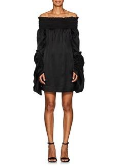 Saint Laurent Women's Off-The-Shoulder Silk Minidress