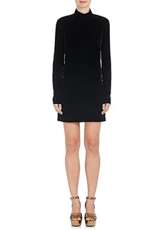 Yves Saint Laurent Saint Laurent Women's Open-Back Velvet Minidress