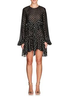 Yves Saint Laurent Saint Laurent Women's Polka Dot Chiffon Peplum Dress