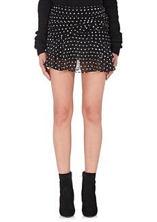 Yves Saint Laurent Saint Laurent Women's Polka Dot Gathered Miniskirt