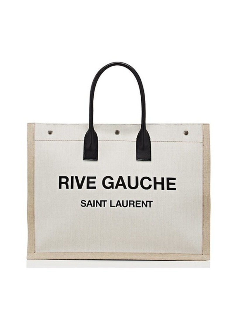 website for discount highly praised bottom price Women's Rive Gauche Large Canvas Tote Bag