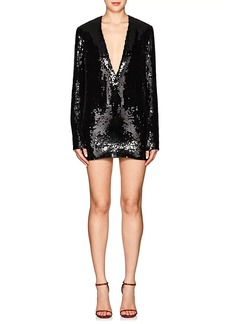 Saint Laurent Women's Sequined Cocktail Dress