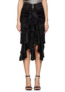 Yves Saint Laurent Saint Laurent Women's Silk Knee-Length Ruffle Skirt