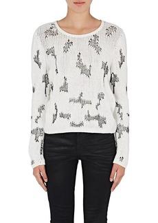 Saint Laurent Women's Stitch-Inset Cashmere Sweater