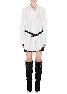 Saint Laurent Women's Striped Cotton Tunic Blouse