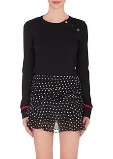 Yves Saint Laurent Saint Laurent Women's Striped-Cuff Wool Sweater