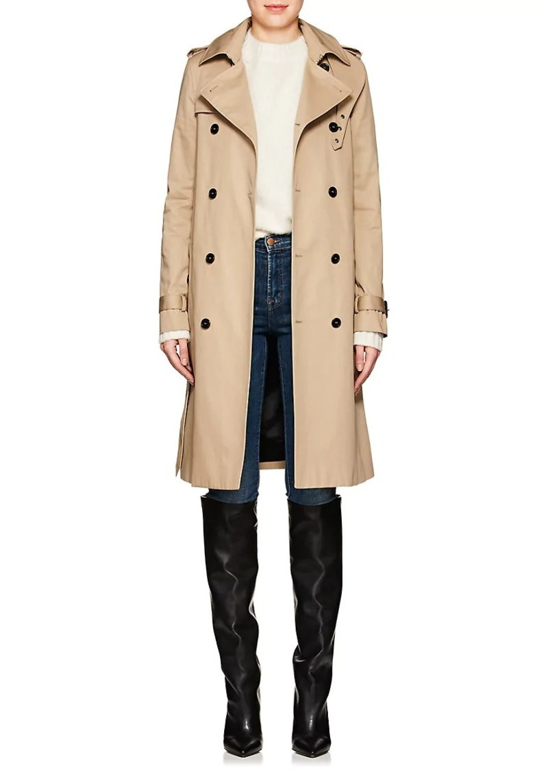 quality good texture factory outlet Women's Twill Belted Trench Coat
