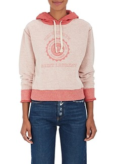 "Saint Laurent Women's ""Universite"" Cotton Terry Sweatshirt"