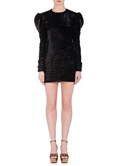 Yves Saint Laurent Saint Laurent Women's Velour Minidress