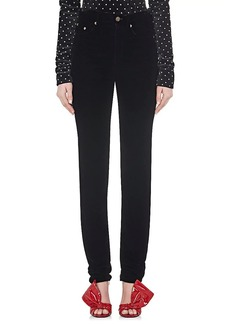 Saint Laurent Women's Velvet Slim Straight Jeans