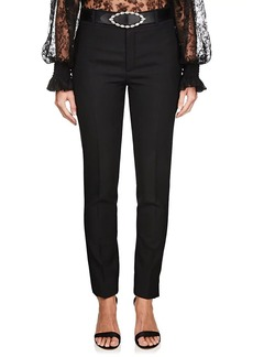 Saint Laurent Women's Virgin Wool Tailored Trousers