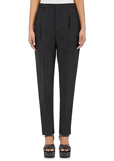 Saint Laurent Women's Wool Gabardine Trousers