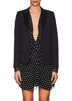 Saint Laurent Women's Wool Piqué Crop Blazer