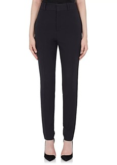 Saint Laurent Women's Wool Tuxedo Crop Pants