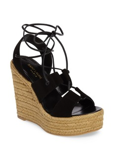 Yves Saint Laurent Saint Laurent Woven Espadrille Wedge Sandal (Women)