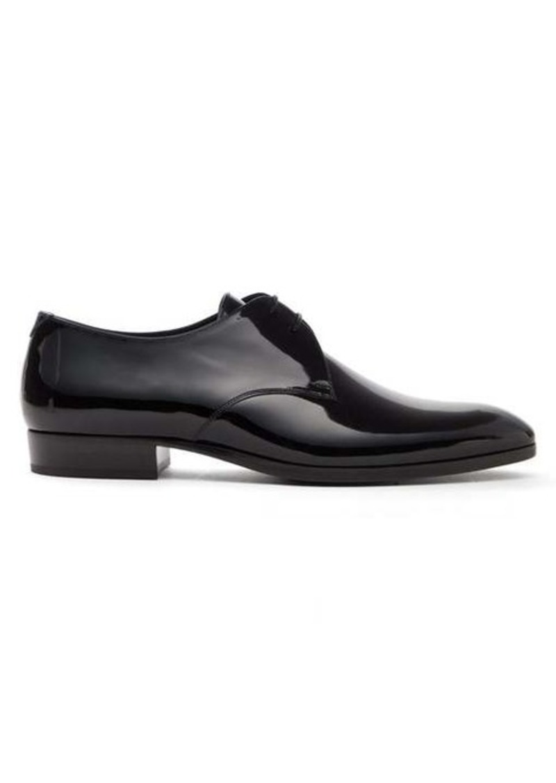 Yves Saint Laurent Saint Laurent Wyatt 25 patent leather derby shoes