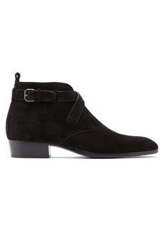 Yves Saint Laurent Saint Laurent Wyatt buckle suede boots