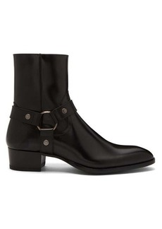 Yves Saint Laurent Saint Laurent Wyatt harness leather boots