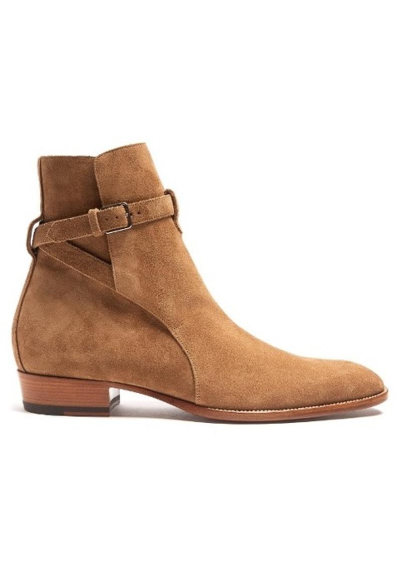 Yves Saint Laurent Saint Laurent Wyatt Jodhpur suede ankle boots Now ... dbd6aaaa2f4e