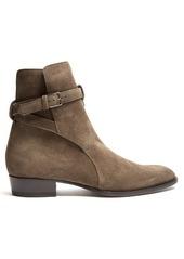 Yves Saint Laurent Saint Laurent Wyatt Jodhpur suede ankle boots