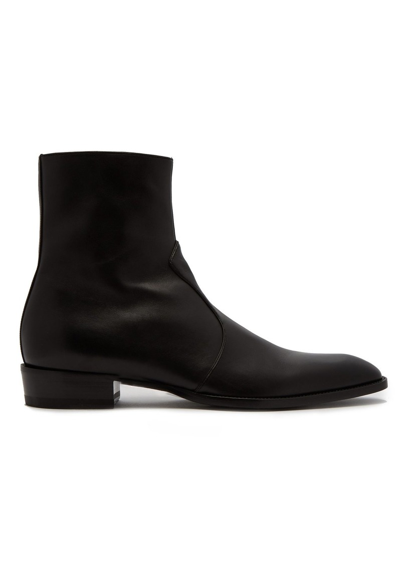 19ad418a Saint Laurent Wyatt leather ankle boots