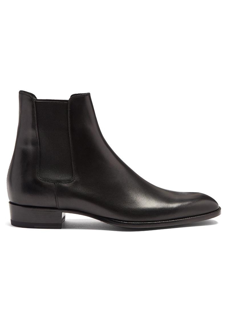 0d59c93c71c Yves Saint Laurent Saint Laurent Wyatt leather chelsea boots