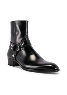 Yves Saint Laurent Saint Laurent Wyatt Leather Harness Boots