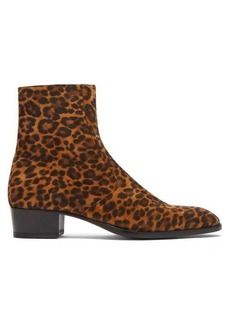 Yves Saint Laurent Saint Laurent Wyatt leopard-print suede chelsea boots