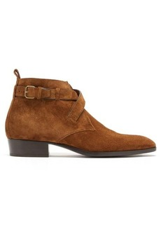 Yves Saint Laurent Saint Laurent Wyatt suede buckled boots