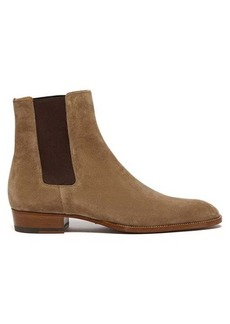 Yves Saint Laurent Saint Laurent Wyatt suede chelsea boots