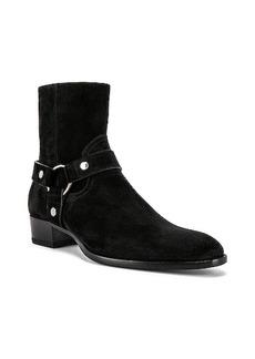 Yves Saint Laurent Saint Laurent Wyatt Suede Harness Boots