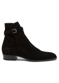 Yves Saint Laurent Saint Laurent Wyatt suede jodhpur boots