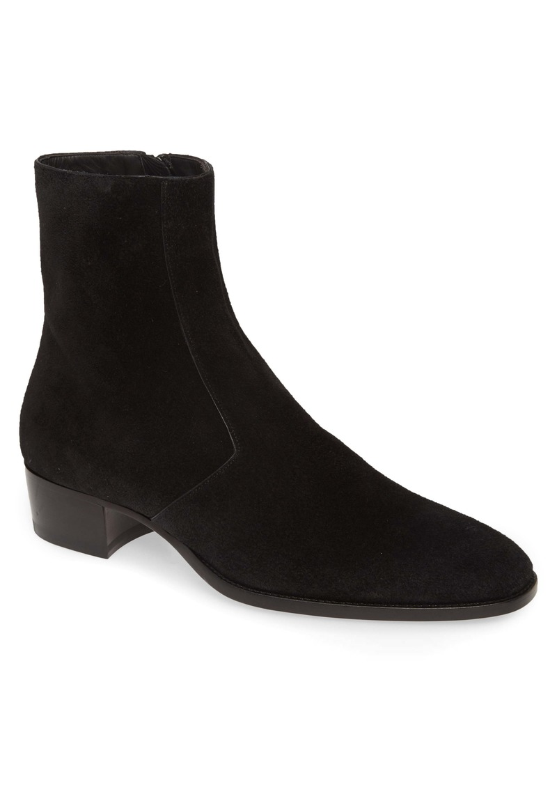 Yves Saint Laurent Saint Laurent Wyatt Zip Boot (Men)