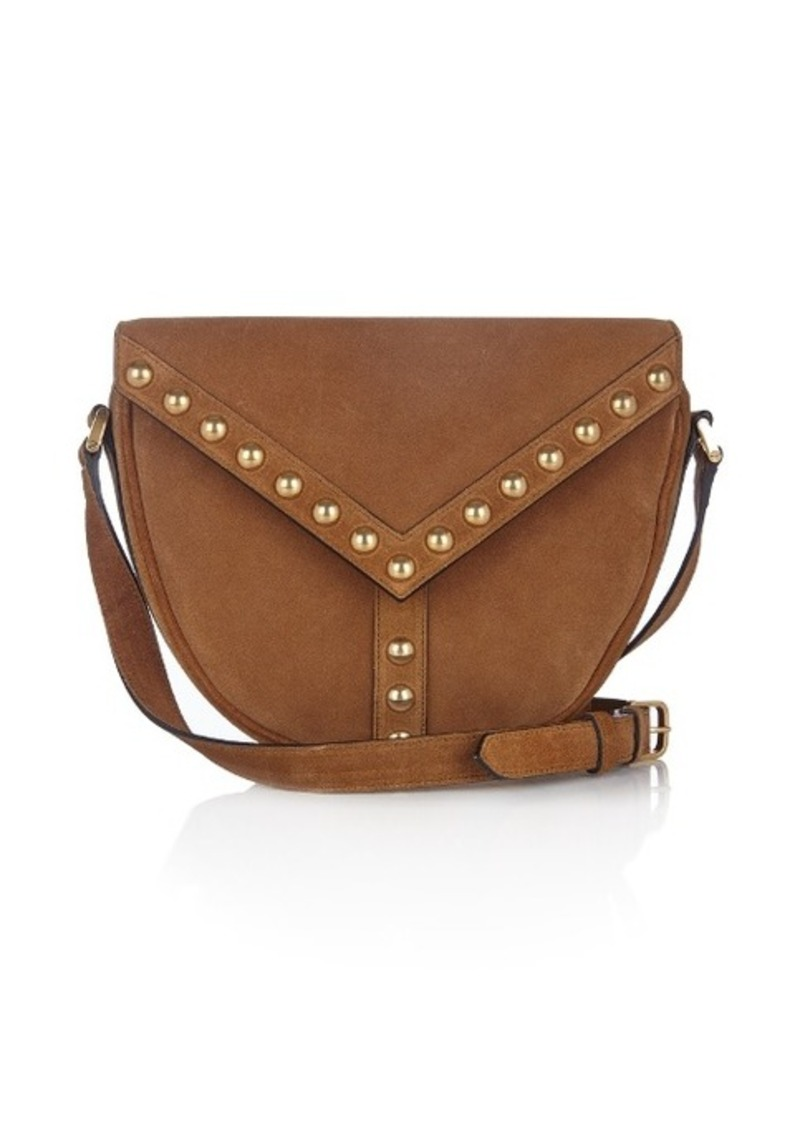 Saint Laurent Saint Laurent Y Studs suede cross-body bag  257c2e6ab851f