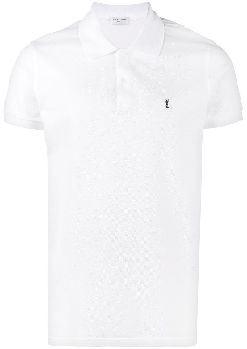 d6159371bf1a Yves Saint Laurent Saint Laurent YSL embroidered polo shirt - White ...