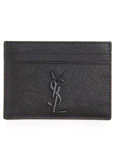 Yves Saint Laurent Saint Laurent YSL Monogram Textured Leather Card Case