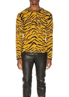 Yves Saint Laurent Saint Laurent Zebra Jacquard Sweater