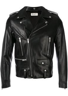 Yves Saint Laurent zipped biker jacket